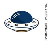 flying saucer on white...   Shutterstock .eps vector #1938115702