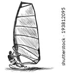 windsurfing sketch. vector eps... | Shutterstock .eps vector #193812095