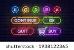 set of vector neon game buttons....