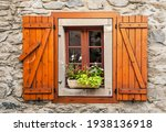 Facade With Windows And Flowers ...