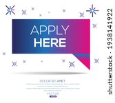 creative  apply here  text... | Shutterstock .eps vector #1938141922