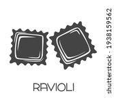 ravioli pasta glyph icon.... | Shutterstock .eps vector #1938159562
