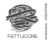 fettuccine pasta glyph icon.... | Shutterstock .eps vector #1938159568