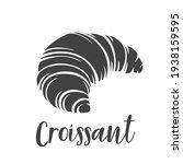 croissant glyph icon badge... | Shutterstock .eps vector #1938159595