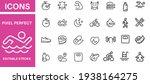 fitness icons set vector design    Shutterstock .eps vector #1938164275