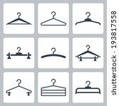 Stock vector hangers vector icons set 193817558