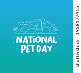 national pet day holiday social ... | Shutterstock .eps vector #1938177415