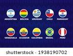 south america football 2021... | Shutterstock .eps vector #1938190702