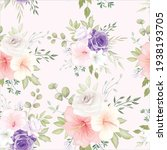 beautiful hand drawn floral... | Shutterstock .eps vector #1938193705