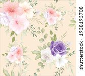 beautiful hand drawn floral... | Shutterstock .eps vector #1938193708