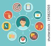 vector flat customer service... | Shutterstock .eps vector #193822505