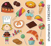 cute confectioner with... | Shutterstock .eps vector #193823402