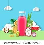 multifruit juice advertising... | Shutterstock .eps vector #1938239938