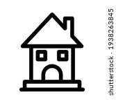 lodging icon or logo isolated...   Shutterstock .eps vector #1938263845