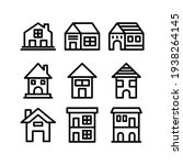 lodging icon or logo isolated...   Shutterstock .eps vector #1938264145