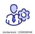 setting employee gear single...   Shutterstock .eps vector #1938280948