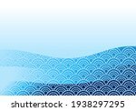 asian sea wave background...   Shutterstock .eps vector #1938297295