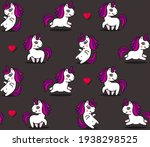cute unicorns and hearts...   Shutterstock .eps vector #1938298525