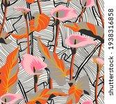 vector floral seamless pattern... | Shutterstock .eps vector #1938316858