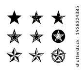 set of stars in black and white ... | Shutterstock .eps vector #1938324385