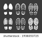 human footprint. footwear steps ...   Shutterstock .eps vector #1938353725