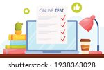 online test with thumbs up... | Shutterstock .eps vector #1938363028