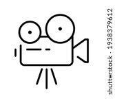 simple retro movie camera... | Shutterstock .eps vector #1938379612
