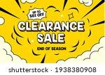 clearance sale banner in pop... | Shutterstock .eps vector #1938380908