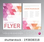 abstract vector modern flyer  ... | Shutterstock .eps vector #193838318