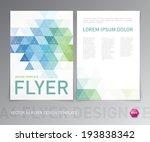 abstract vector modern flyer  ... | Shutterstock .eps vector #193838342