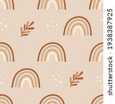 seamless pattern with rainbows. ... | Shutterstock .eps vector #1938387925