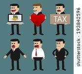 set of businessman characters... | Shutterstock .eps vector #193842596