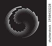 halftone dots in semi circle...   Shutterstock .eps vector #1938433228
