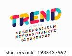 modern style font  trendy color ... | Shutterstock .eps vector #1938437962