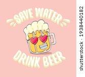 save water drink beer vector...   Shutterstock .eps vector #1938440182