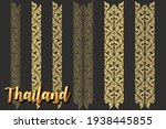 set of thai painting patterns.... | Shutterstock .eps vector #1938445855