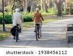 Older Caucasian Couple Riding...
