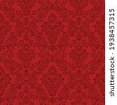 damask seamless vector pattern. ...   Shutterstock .eps vector #1938457315
