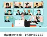 virtual graduation ceremony ... | Shutterstock .eps vector #1938481132