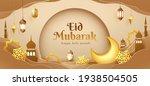 eid mubarak paper graphic of... | Shutterstock .eps vector #1938504505