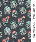 seamless cactus print pattern... | Shutterstock .eps vector #193853522
