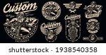 vintage custom motorcycle... | Shutterstock .eps vector #1938540358