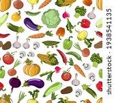 vector pattern from vegetables... | Shutterstock .eps vector #1938541135
