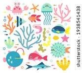 Set With Ocean Creatures....