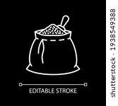 grain in sack white linear icon ...   Shutterstock .eps vector #1938549388