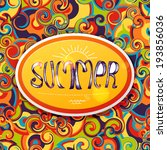 colorful summer banner in vector | Shutterstock .eps vector #193856036