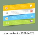 vector infographics template... | Shutterstock .eps vector #193856375