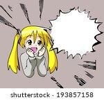 manga girl  | Shutterstock .eps vector #193857158