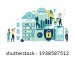 people in team analyze dioramas ... | Shutterstock .eps vector #1938587512