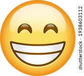 emoji beaming face with smiling ...   Shutterstock .eps vector #1938603112